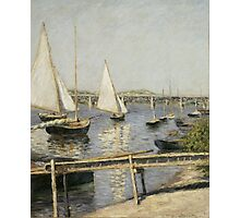 Gustave Caillebotte - Sailing Boats at Argenteuil 1888 , Seascape Photographic Print