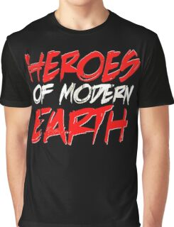 Heroes of modern earth Funny Men's Tshirt Graphic T-Shirt