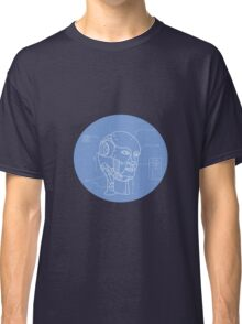 Robot Head Technical Drawing Classic T-Shirt