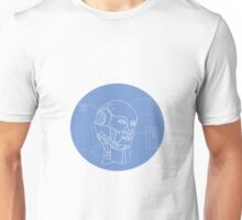 Robot Head Technical Drawing Unisex T-Shirt