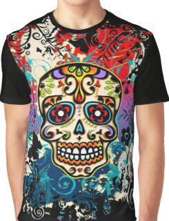 Mexican Sugar Skull, Day of the Dead, Dia de los muertos Graphic T-Shirt