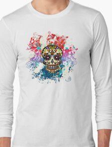 Mexican Sugar Skull, Day of the Dead, Dias de los muertos Long Sleeve T-Shirt