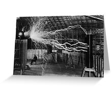 Nikola Tesla - Bolts Of Electricity Greeting Card