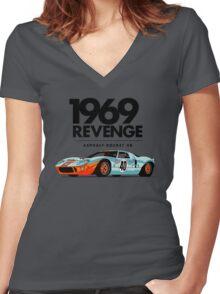 1969 Rocket V8 Women's Fitted V-Neck T-Shirt