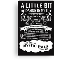 TVD Song (b/w) Canvas Print