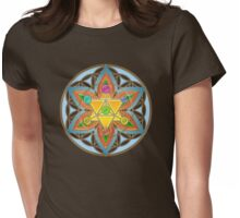 Merkaba, Chakras, Flower Of Life, Metatrons Cube, Sacred Geometry Womens Fitted T-Shirt