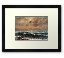 Gustave Courbet - Autumn Sea 1867 , Seascape Framed Print