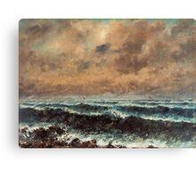 Gustave Courbet - Autumn Sea 1867 , Seascape Canvas Print