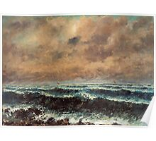 Gustave Courbet - Autumn Sea 1867 , Seascape Poster