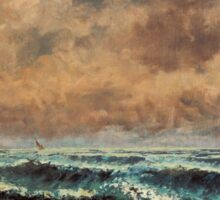Gustave Courbet - Autumn Sea 1867 , Seascape Sticker