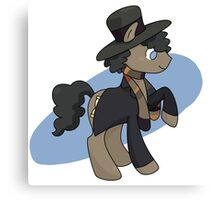 4th doctor whooves Canvas Print