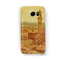 Vintage Tuscany, Siena aerial view Samsung Galaxy Case/Skin