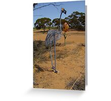 Emu Sculpture. Greeting Card