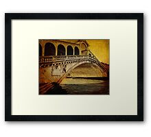 Rialto bridge, vintage Framed Print