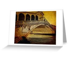 Rialto bridge, vintage Greeting Card