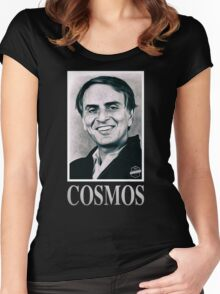 Cosmos Carl Sagan Women's Fitted Scoop T-Shirt