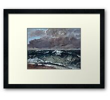 Gustave Courbet - The Wave 1867 - 1869, Seascape Framed Print