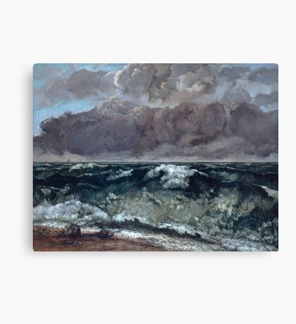 Gustave Courbet - The Wave 1867 - 1869, Seascape Canvas Print