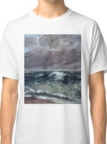 Gustave Courbet - The Wave 1867 - 1869, Seascape Classic T-Shirt
