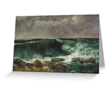 Gustave Courbet - The Wave 1869 Greeting Card