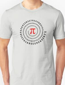 Pi, π, spiral, Science, Mathematics, Math, Irrational Number, Sequence Unisex T-Shirt
