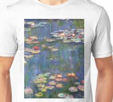 1916-Claude Monet-Waterlilies-200 x 200 Unisex T-Shirt