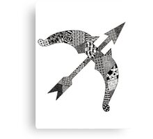 Zentangle Bow Canvas Print