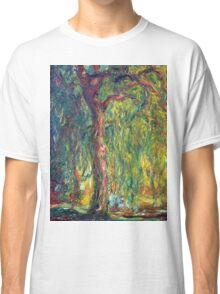 1918-Claude Monet-Weeping Willow-99 x 120 Classic T-Shirt