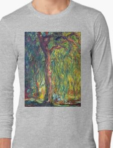 1918-Claude Monet-Weeping Willow-99 x 120 Long Sleeve T-Shirt