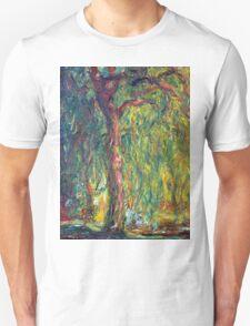 1918-Claude Monet-Weeping Willow-99 x 120 Unisex T-Shirt