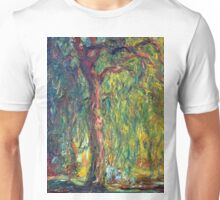 1918-Claude Monet-Weeping Willow-99 x 120 Unisex T-Shirt