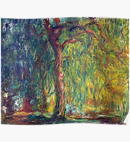 1918-Claude Monet-Weeping Willow-99 x 120 Poster