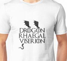 Drogon, Viserion and Rhaegal Unisex T-Shirt