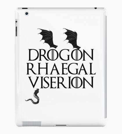 Drogon, Viserion and Rhaegal iPad Case/Skin