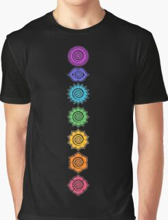 7 Chakras - Cosmic Energy Centers  Graphic T-Shirt