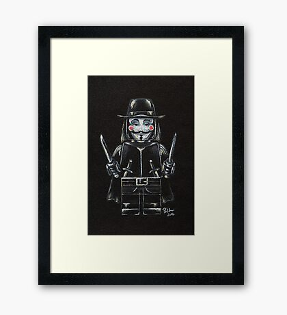 L for Lego Framed Print