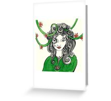 The green woodland elf Greeting Card