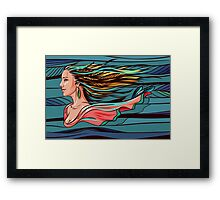 Vector wind angel Framed Print