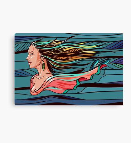 Vector wind angel Canvas Print