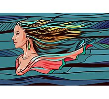 Vector wind angel Photographic Print