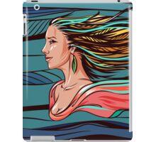 Vector wind angel iPad Case/Skin