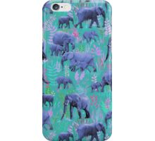 Sweet Elephants in Bright Teal, Pink and Purple iPhone Case/Skin