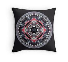 bike kaleidoscope in the round  Throw Pillow