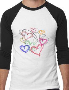 Painting Love Men's Baseball ¾ T-Shirt
