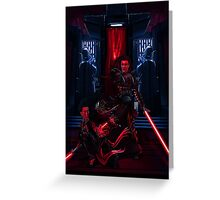 Sith dueling Greeting Card