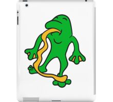 funny tongue out long silly crazy funny little frog iPad Case/Skin