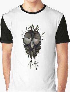 Funny Sleepy Owl Graphic T-Shirt