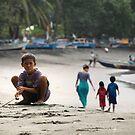 boy on beach by wellman