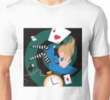 Alice falls down the rabbit hole.  Unisex T-Shirt