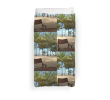 Deck Chair with View Across the Caribbean Sea Duvet Cover